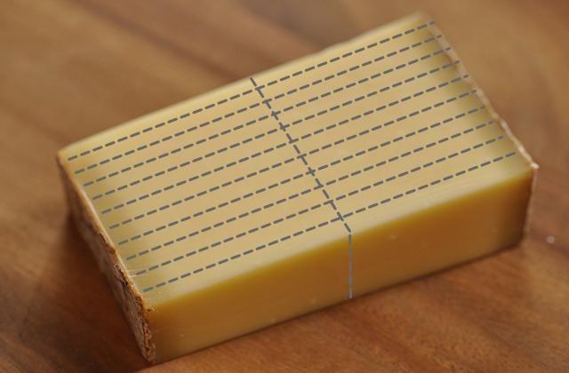 コンテチーズの切り分け方