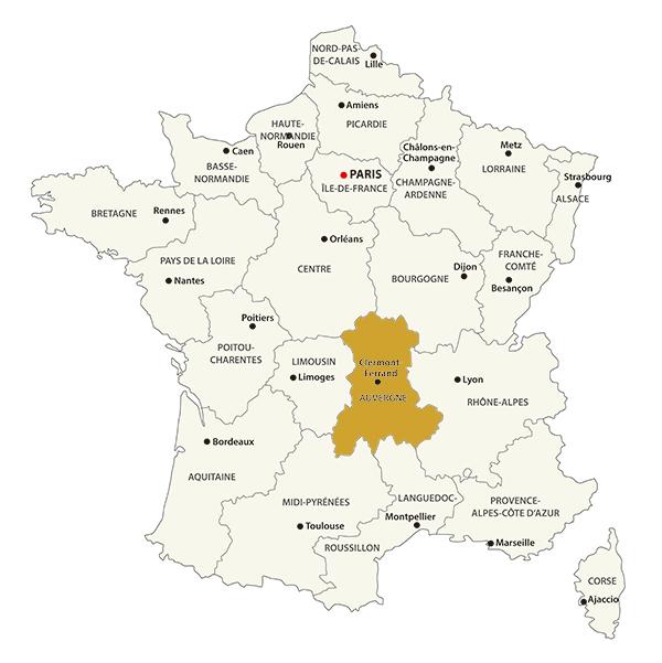 オーベルニュ地図