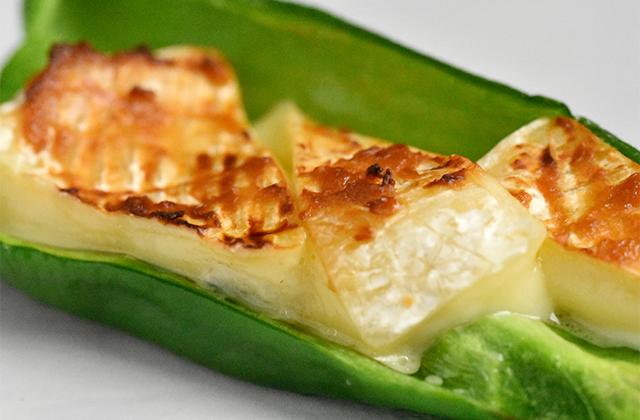 ピーマンのカマンベールチーズ焼き